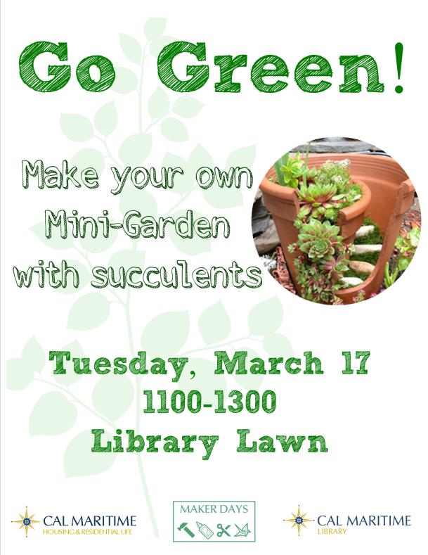 Go Green mini garden poster
